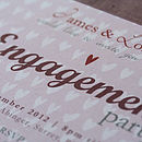 Personalised Engagement Party Invitation