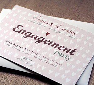 Personalised Engagement Party Invitation - invitations