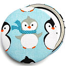 ''Cute Penguin'' Christmas Compact Mirror