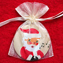 Christmas Vintage Santa Mirror in Organza Bag