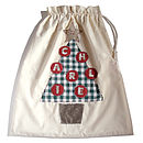 personalised children's santa sack with 7 letter name
