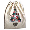 personalised santa sack with 6 letter name