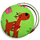 Reindeer Christmas Stocking Filler Mirror
