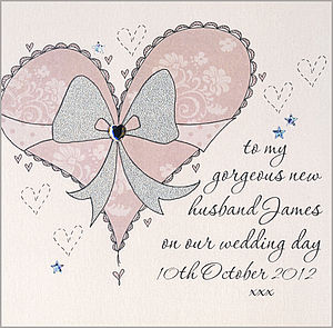 Personalised Wedding Card To Husband Or Wife - wedding cards