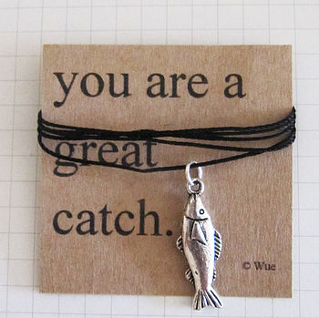 'Great Catch' Token Charm Fish Necklace
