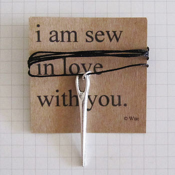 'Sew In Love' Token Necklace