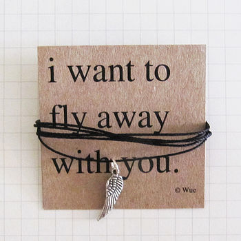 'I Want To Fly Away' Token Necklace