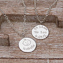 Personalised Silver New Mum Necklace