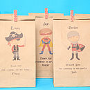 Pirate, Superhero and Knight Party Bags