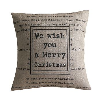 'We Wish You a Merry Christmas' Cushion
