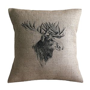 Vintage Moose Cushion - cushions