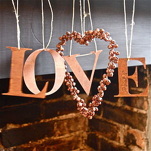 Hanging Rusty Vintaged Letters - art & decorations