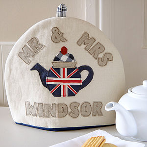 Personalised Union Jack Flag Tea Cosy