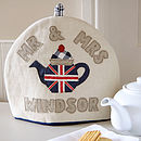 personalised mr and mrs union jack tea cosy