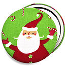 ''Father Christmas'' Compact Mirror