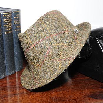 'Stirling' Harris Tweed Trilby Hat