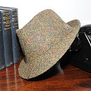 'Stirling' Harris Tweed Trilby Hat