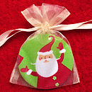 Santa Mirror in Organza Bag