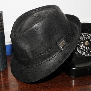 Camden Leather Trilby Black