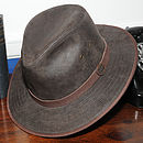 Madrid leather Fedora Brown