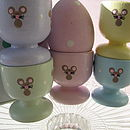 Hand Painted Little Mice Design Egg Cups
