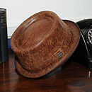 'Soho' Leather Pork Pie Hat