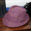 Striling Harris Tweed Trilby Plum