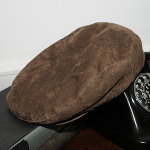 'Genoa' Suede Flat Cap - hats, scarves & gloves