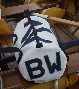 Personalised Seaview Sailcloth Kit Bags - holdalls & weekend bags