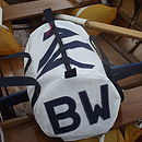 Personalised End Seaview Sailcloth Kit Bags