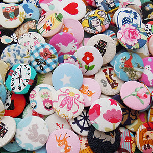 Mixed Fabric Badge Pack - unusual favours