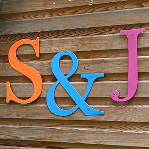 Oversized Coloured Metal Letters - decorative letters