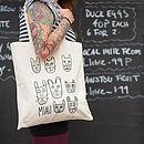 'Miau' Montage Long Handle Tote Bag