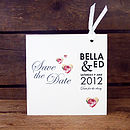Doris Bookmark Save The Date Card