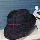 Stirling Harris Tweed Trilby Purple