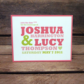 Esther Save The Date Magnet