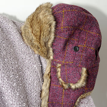 'Lerwick' Harris Tweed Trapper Hat 20% Off