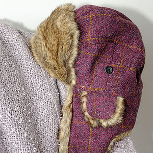 Harris Tweed Lerwick Trapper Hat - hats, scarves & gloves