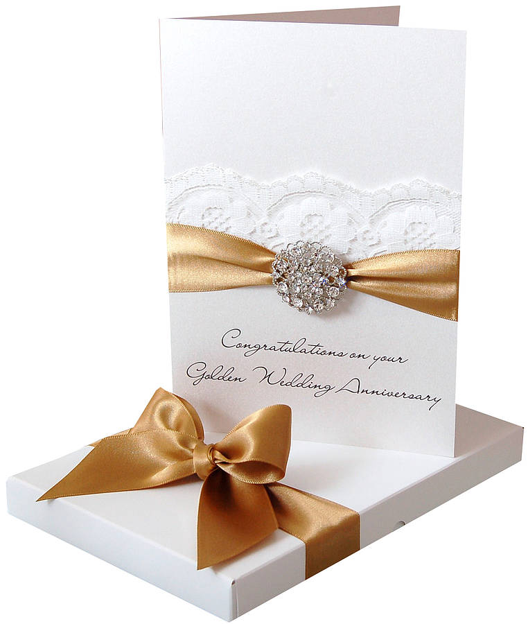 Opulence Personalised Wedding Anniversary Card Large By Made With