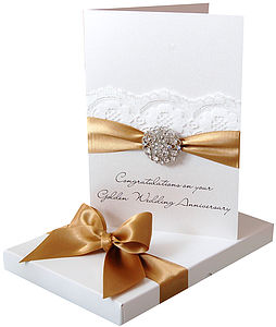 Opulence Wedding Anniversary Card Large