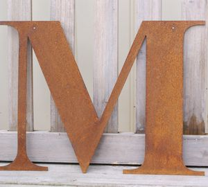 Rusty Metal Letters, Words Or Names - living room
