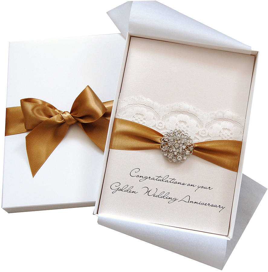 opulence personalised wedding anniversary card large