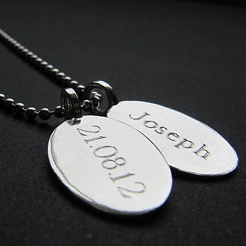 Silver Tag & Ball Chain Necklace