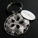 Silver Flower Key Ring