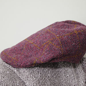 'Aberdeen' Harris Tweed cap