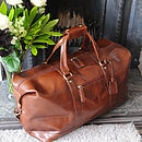 Leather Holdall Brown