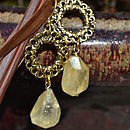 Vintage Hoop Stone Earrings