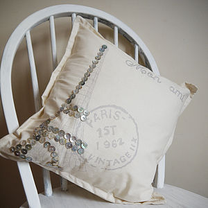 Paris Pearl Eiffel Tower Cushion - cushions
