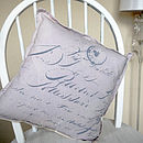 Love Notes Cushion within the home
