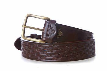 Bodmin Hand Tooled Handmade Leather Belt